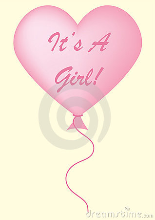 It s A Girl Balloon