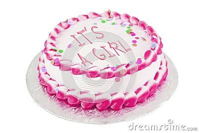 It s a girl festive cake
