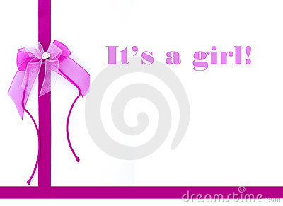 It s a girl - New born card