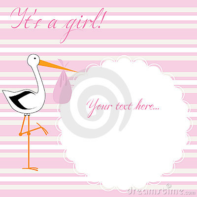 It s a girl! - pink stripes