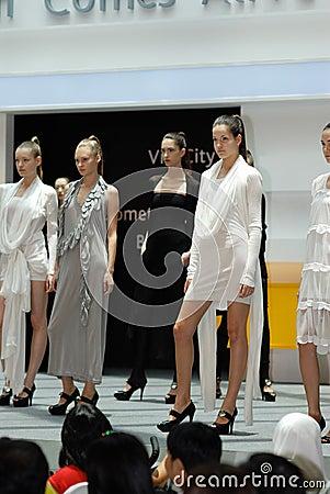S gpore fashion festival 2008 Editorial Photo