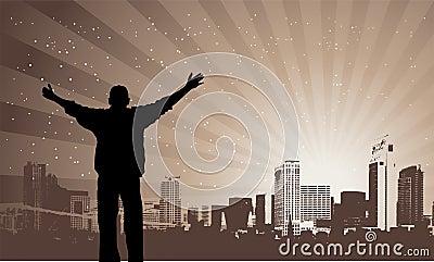 It s my city, vector illustration