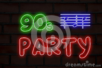 90s Party Neon Lights