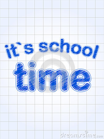 It s school time in blue over squared sheet