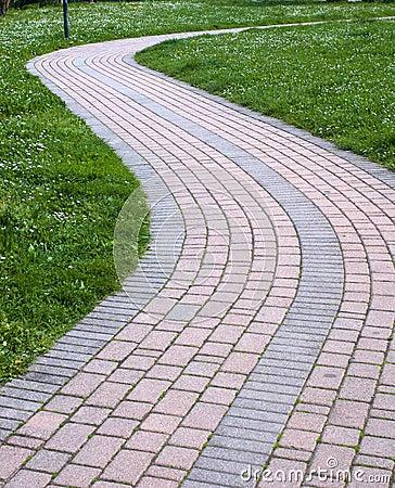 S-shape walk way