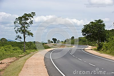 S shaped road