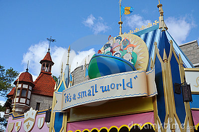 It s a small world in Disney World Orlando Editorial Image