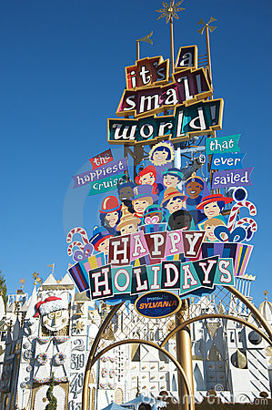 It s a Small World at Disneyland Editorial Photo