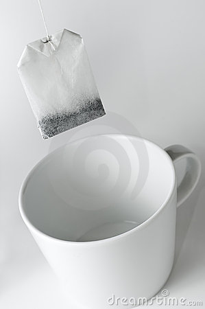 It s teatime - teabag with teacup
