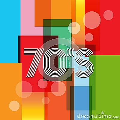 70s Vector Retro Background