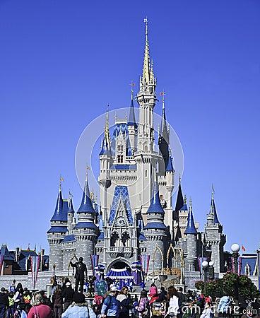 城堡灰姑娘・迪斯尼s walt worl 编辑类照片