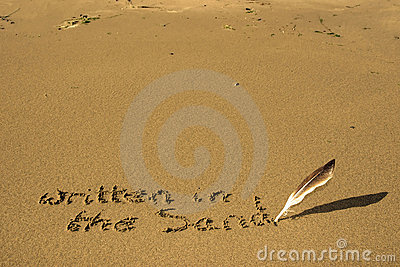 It s written in the sand