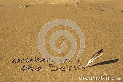 It's written in the sand