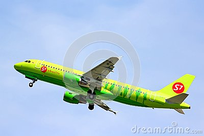 S7 Airlines Airbus A320 Editorial Photo