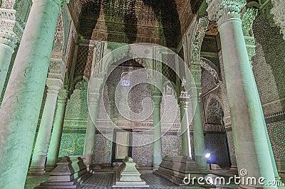 Saadian tombs in Marrakech, Morocco