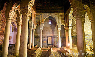 The Saadian tombs in Marrakesh