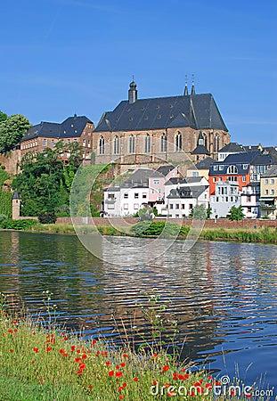 Saarburg, fiume la Saar, Germania