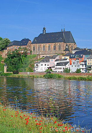 Saarburg, fleuve la Sarre, Allemagne