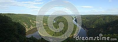 Saarschleife - rzeczny Saar