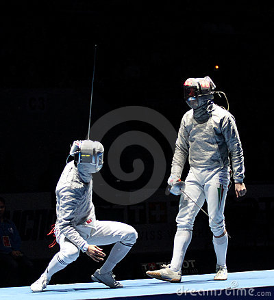 Saber World Fencing Tournament Editorial Stock Photo