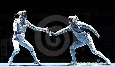 Saber World Fencing Tournament Editorial Photo