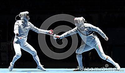 Saber World Fencing Tournament Editorial Photo