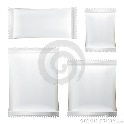 Free Sachet Vector. White Blank Of Stick Sachet Packaging. Sachets For Medicines. Good For Package Design. Realistic Isolated Royalty Free Stock Image - 97615776