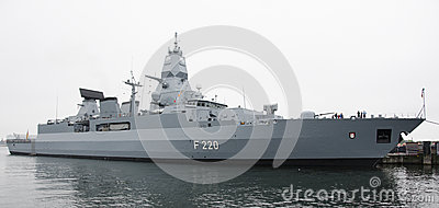Sachsen-class frigate F220 Hamburg Editorial Photo