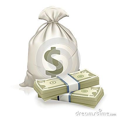 Free Sack And Money Stock Image - 20105971
