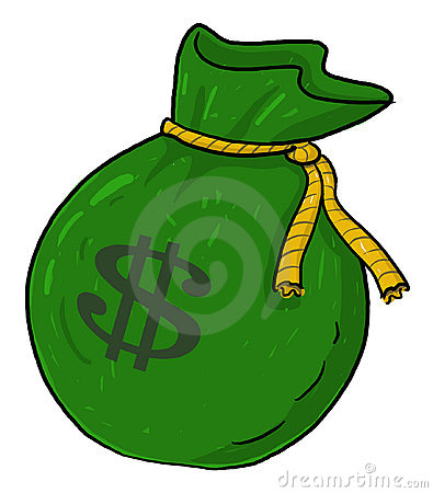 Sack of money with dollar sign illustration