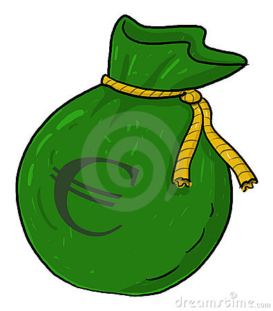 Euro money sack illustration