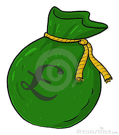 Sack of money with pound sign illustration