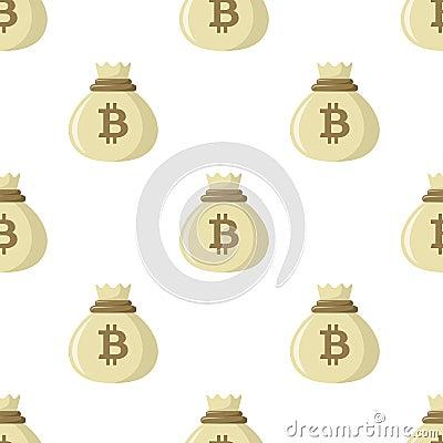 Free Sack Of Bitcoin Money Seamless Pattern Stock Image - 116342071