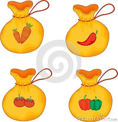 Sacks carrying Vegetables