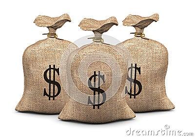 Sacks of dollars