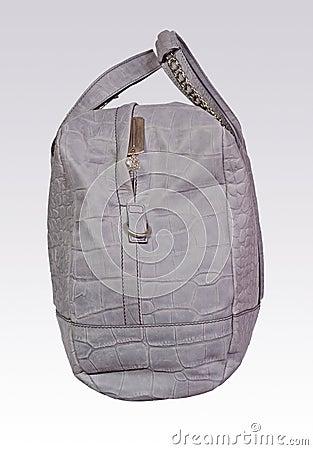 Saco de couro cinzento da mulher