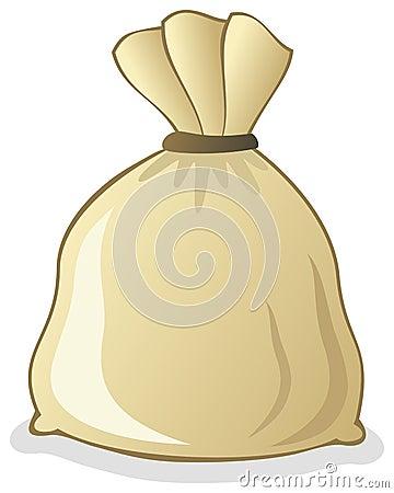 Saco grande lleno de la arpillera