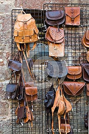 Sacos de couro