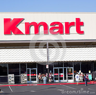 SACRAMENTO, USA - SEPTEMBER 13: Kmart store entrance on Septembe Editorial Stock Photo