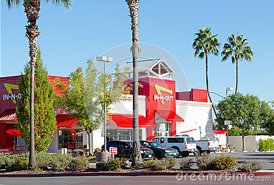 SACRAMENTO, USA - SEPTEMBER 23:  In-n-out Burger restaurant on S Editorial Stock Image