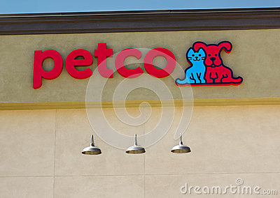 SACRAMENTO, USA - SEPTEMBER 5: Petco store sign on September 5, Editorial Stock Image