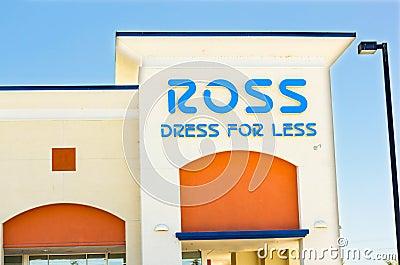 SACRAMENTO, USA - SEPTEMBER 5: ROSS store on September 5, 2013 i Editorial Image