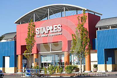 SACRAMENTO, USA - SEPTEMBER 23:  Staples store on September 23, Editorial Photography