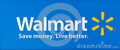 SACRAMENTO, USA - SEPTEMBER 13: Walmart sign on September 13, 20 Editorial Stock Photo