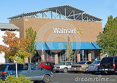 SACRAMENTO, USA - SEPTEMBER 23: Walmart store on September 23, 2 Editorial Stock Image