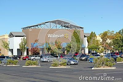 SACRAMENTO, USA - SEPTEMBER 13: Walmart store on September 23, 2 Editorial Stock Image