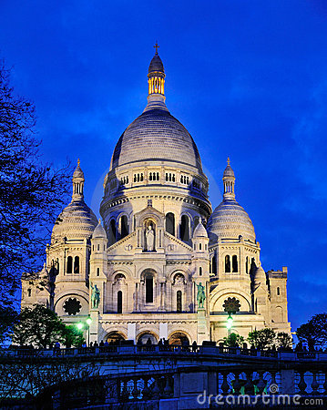 Free Sacre Coeur By Night Stock Image - 20891041