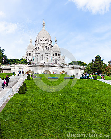Sacre Coeur Cathedral in Montmartre Editorial Image