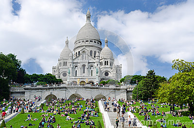 Sacre Coeur church in Paris, France Editorial Photography
