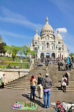 Sacre Coeur in Paris, France Editorial Photography